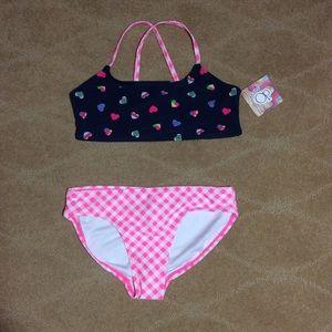 Ocean Pacific Girls Bikini in Heart Toss, Med 7-8